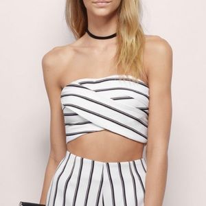 MOVING SALE - TOBI Striped Wrapped Crop Top